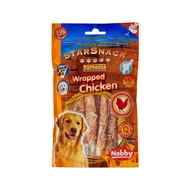 Nobby Poulet Stick Enrobé Snack pour Chien 70 g/12,5 cm/Diamètre 7-8 mm - Lot de 2