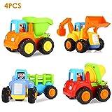 Huile Mini coche de juguete para niños Vehículo juegos de regalo para bebé de 1-3 años Btractor / bulldozer / volquete / hormigonera