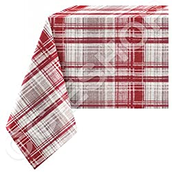 Mantel 100% algodón Tartán Escocés Burdeos 140x 140/180/240/300/360