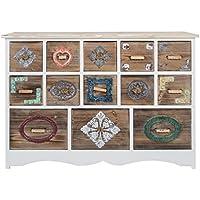 Comparador de precios Casa-Padrino cómoda de Estilo Country con 13 cajones Blanco 108 x 39 x H. 81 cm - Muebles de Estilo Country - precios baratos