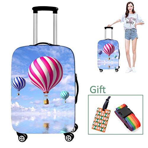 Luggage cover Koffer-Abdeckungen Gepäckabdeckung Schutzhülle Heißluftballondruck Dick, Abriebfest für 18-28 Zoll,S - Dehnbare Koffer Abdeckung