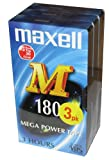 Maxell Conf.da 3 VHS Video E-180Min. con.3