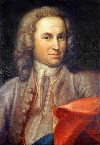 Poster 50 x 70 cm: Johann Sebastian Bach von ARTOTHEK - hochwertiger Kunstdruck, neues ()