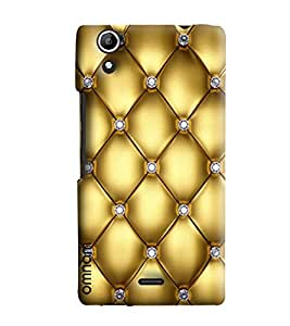 Omnam Quilting Effect Printed Designer Back Cover Case For Micromax Selfie 2 (Q340)