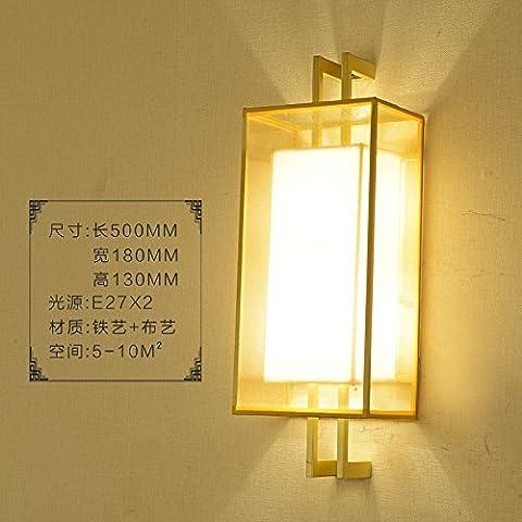 GaoHX Einfache Marching Chinesischen Pigeon Wandleuchte Bettseite Lampen Gang Treppe Schlafzimmer Wohnzimmer Moderne Beleuchtung,B Gold 50Cm