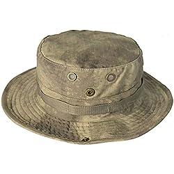 Tactical Boonie Hat, QMFIVE Sombrero redondeado de camuflaje Pescador Sun Protection Cap para Outdoor Climb Camping(ATAC)