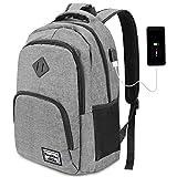 YAMTION Laptop Rucksack Business Rucksack für 15.6 Zoll Laptop Schulrucksack mit USB Ladeanschluss für Arbeit...