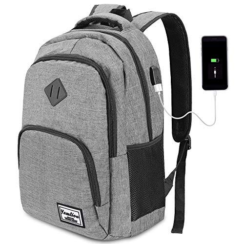 YAMTION Computerrucksack Herrenrucksack mit USB-Ladeanschluss für Schulreisen 35L