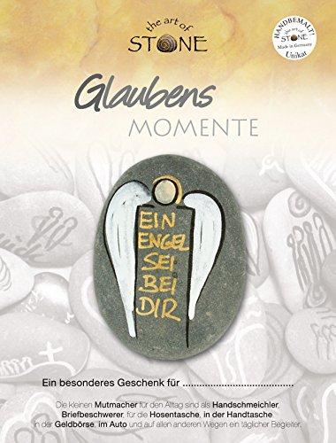 """Glaubens Momente - Ein Engel sei bei Dir - Serie 4, Motiv 10 Handbemalter Naturstein """"Unikat"""" von """"The Art of Stone"""""""