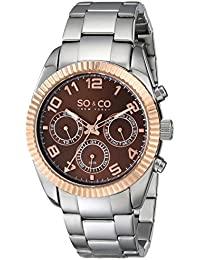SO & CO New York Reloj 5009.4 Plateado