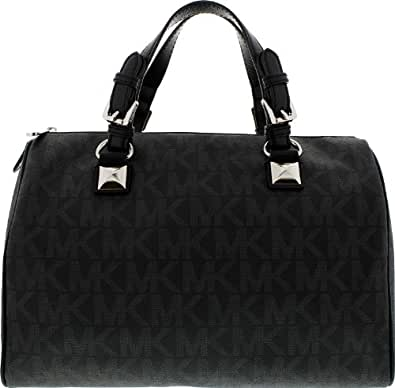 michael kors damen satchel tasche schwarz schwarz. Black Bedroom Furniture Sets. Home Design Ideas