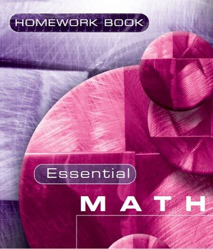 Essential Maths 7c Homework Book: Homework Bk. 7C