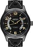 PARNIS–Orologio 3245PVD nero Aviatore da Uomo Automatico Orologio vetro zaffiro Datario 10bar in acciaio inox massiccio Ø43mm Miyota Orologio al Quarzo