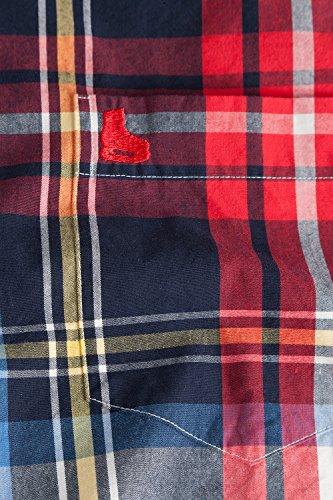 JP 1880 Homme Grandes tailles Chemise à carreaux 702314 Bleu Marine