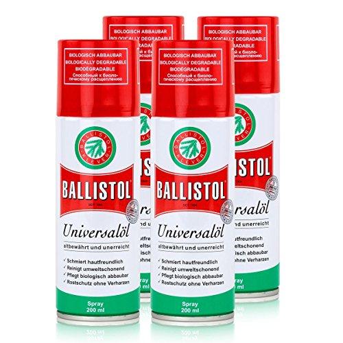 Ballistol Universalöl Spray 200ml - Rostschutz ohne Verharzen (4er Pack)