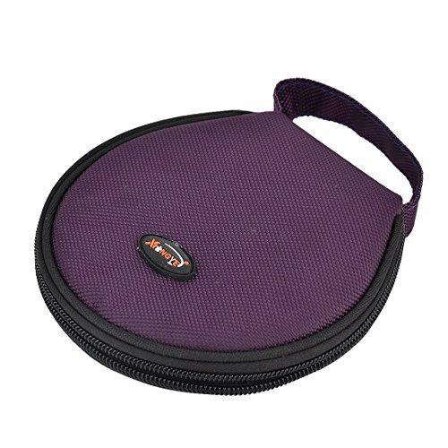 sourcingmap® Haus Auto Nylon Hände Tasche Reißverschluss Runde CD Halter Tasche 20 Platten (Dvd Aufbewahrung Reißverschluss-tasche)