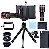 Apexel Optical Phone Camera Lens Kit 12X Manual Focus Telescope Camera Lens