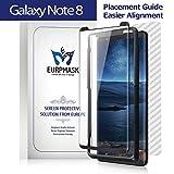 EURPMASK Galaxy Note 8 Panzerglas, 100% HD Glas Schutzglas [Hülle Geeignet], 9H Härte mit anti-kratzen, Clear Bildschirm Schutzfolie, 1 Kohlenstoff rückseitfolie, für Samsung Galaxy Note8