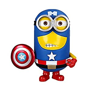 Despicable Me 2 Captain America Minion Superhero PVC