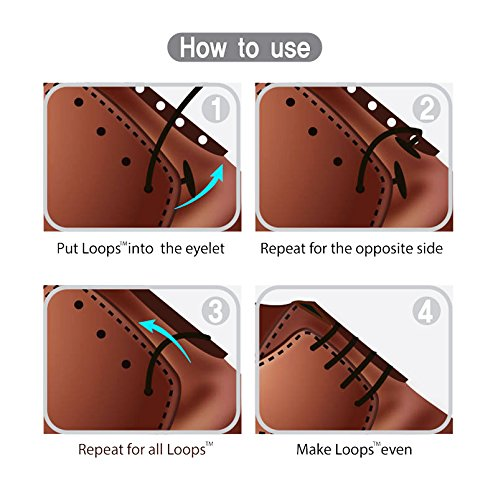 Loops formal no tie laces elastic slip on shoelaces for ultra loops formal no tie laces elastic slip on shoelaces for ultra comfort and confidence perfect for men and women patented anchor type perfect for oxfords ccuart Images
