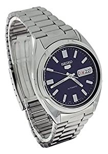 Seiko 5 Mens Silver Stainless Steel Day & Date Watch SNXS77 de Seiko