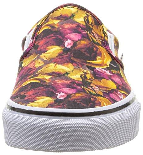 U Floral White Mehrfarbig erwachsene Vans Unisex multi digi on Digi Floral Slip Sneakers Classic true dawxXqTZ