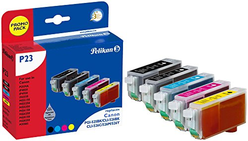 Pelikan Druckerpatronen ersetzen (Canon PGI-525PGBK, CLI-526BK, CLI-526C, CLI-526M, CLI-526Y, Promo Pack) (Office-drucker Stehen)