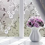 LEPAKSHI Waterproof Self-Adhesive Film Window Decorative Film Frosted Glass Sliding Door Bathroom Window Stickers Translucent Opaque 2