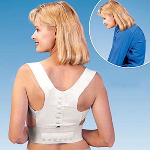 Magnetische Schulter Brace (careforyou® Unisex Magnetische Therapie Haltung Korrektor Body Rückenschmerzen Gürtel Brace Schulterstütze Feel Young Korsett Gürtel verstellbar S)
