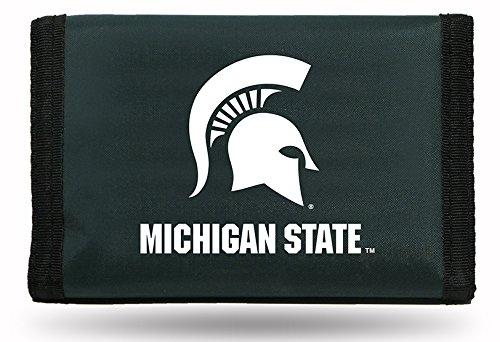 Rico Herren NCAA Michigan State Spartans Nylon Trifold Wallet, Dark Grün, 12,7cm, von 3Zoll (Tri-fold Wallet Grün)