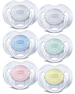 Philips AVENT Soother Translucent 0-6m COLOURS/DESIGNS MAY VARY - SCF170/18 (PACK OF 1, 2 SOOTHERS)