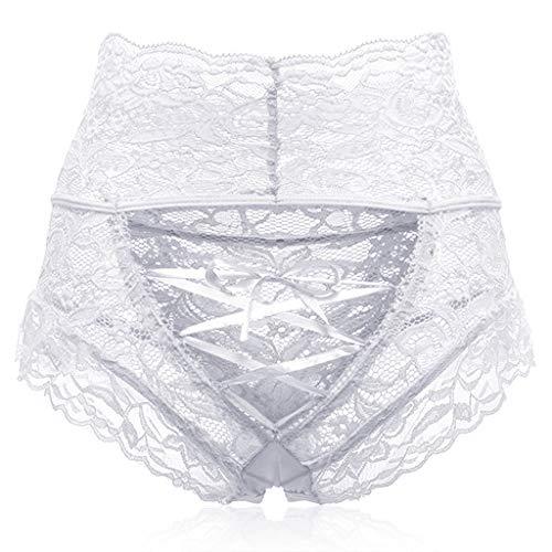 CICIYONER Damen Sexy Hohl Spitze Hohe Taille Gebundene Höschen Unterwäsche S-XL