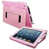 Étui iPad 3 & 4, Snugg™ - Housse de Protection Rose Clair, Style Smart Case Avec Garantie à Vie Pour Apple iPad 3 et iPad 4