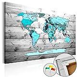 murando - Cuadro - Tablero de corcho 120x80 cm - Cuadro Sobre Corcho - Poster Mapamundi - k-B-0009-p-d
