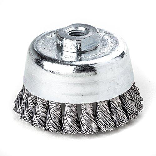less tresse Bonhomme de pot brosse 75 mm 20 Z STH lisse 0,50 mm GEW. M 14, 483217