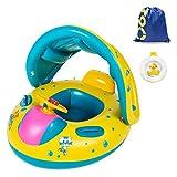 Baby Schlauchboot, Sitz flotant Pool Schwimmen aufblasbar Spielzeug Wasser mit Sonnenblende für Babys Kinder 1–3Jahre