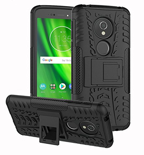 Case Collection Stylische, Strapazierfähige Handyhülle für Motorola Moto G6 Play Hülle mit Doppelter Schutzfunktion und Integriertem, Ausklappbarem Ständer für Motorola Moto G6 Play Hülle