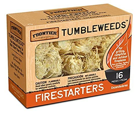 Frontier Tumbleweeds Natural Firestarters - 1 box of 16 by Frontier