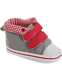 Chaussures velcro avec doublure à carreaux - Bébé garçon