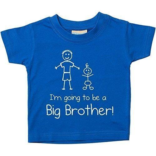 de a Großer Bruder Blau T-shirt Baby Kleinkind Kinder Verfügbar in Größen von 0-6 Monate Neu Baby Bruder Geschenk - Blau, 18-24 Months (Kleinkind-größe 4)