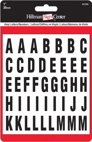 The Hillman Group 842286 1-Inch Die-Cut Letters and, Numbers Kit, Black by The Hillman Group (English Manual)
