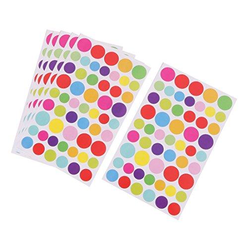 Kreis Muster DIY Buch Album Sticker Abnehmbare Wand Aufkleber Bunt DE de ()