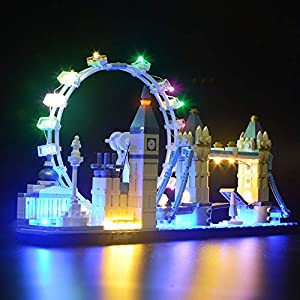 BRIKSMAX Kit di Illuminazione a LED per Architecture Londra, Compatibile con Il Modello Lego 21034 Mattoncini da… Giocattolo LEGO