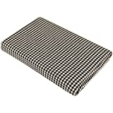 Baby Bath/face/hand/wash Towel Made Of Organic Muslin From The House Of Brother Baby With Dimensions 65 Cm X 65 Cm(black Check)