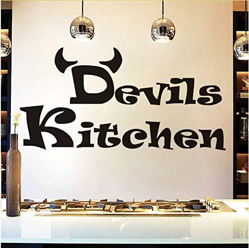 Lvabc Günstige Einfache Design Teufel Wandaufkleber Küche Zimmer Dekoration Diy Vinyl Home Decals Kunst Poster Papiere 59X30 Cm