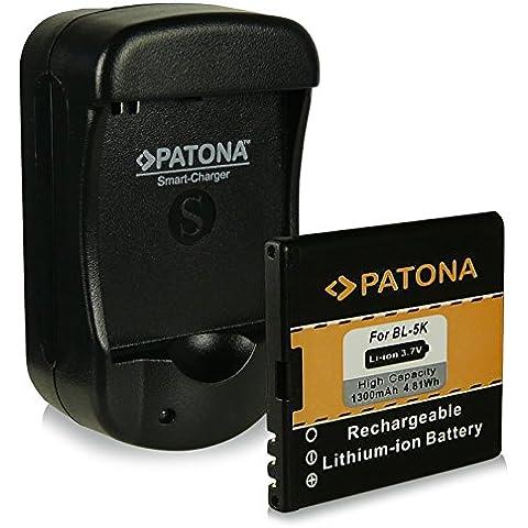 2in1 Caricabatteria con porta USB + Batteria BL-5K | BL5K