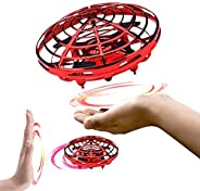 infinitoo Mini UFO Flying Ball Toys, Hand-Controlled Drone With 5 Infrared Sensors 360°Rotating and Flashing L