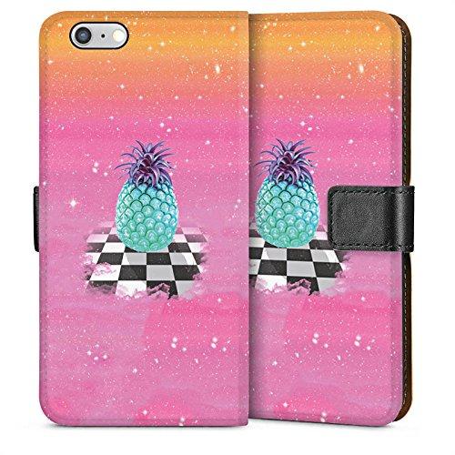 Apple iPhone 4 Housse Étui Silicone Coque Protection Grand ananas Ananas Galaxie Sideflip Sac