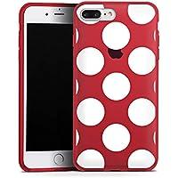 Apple iPhone 7 Plus Silikon Hülle Case Schutzhülle Muster ohne Hintergrund Punkte Polka Dots