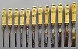 ECE Stechbeitel mit Holzheft aus Weißbuche Satz 12 - teilig